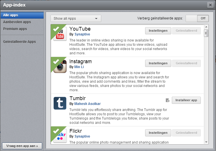 Hootsuite Social Media Apps