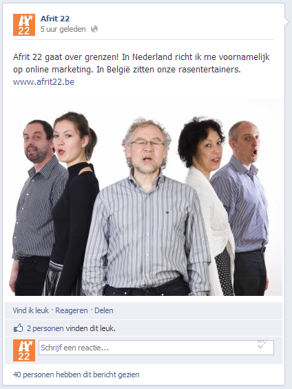 Afrit 22 op Social Media: Facebook