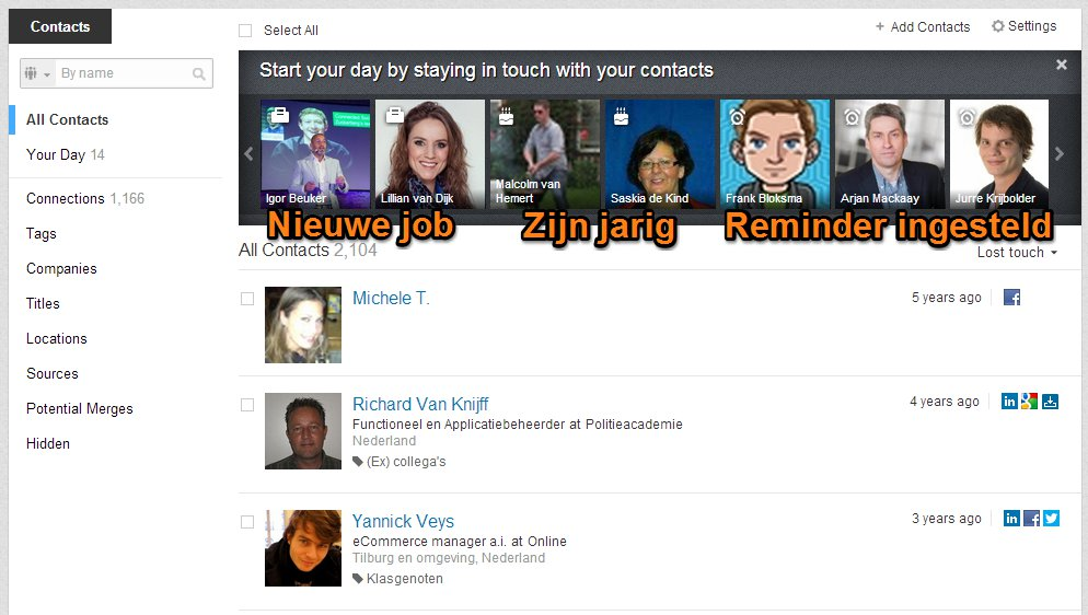 LinkedIn Contacts: Start your day