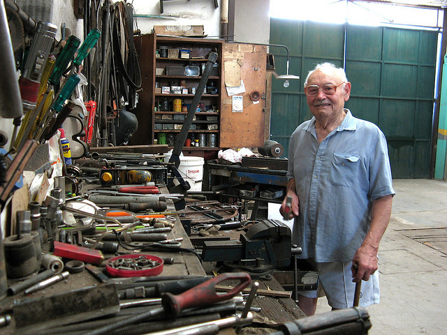 grandad and his tools