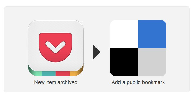 IFTTT: Pocket en Delicious